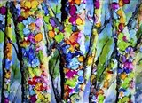 Birches with Bling Art Print