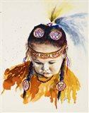 First Nations Powwow Princess Art Print