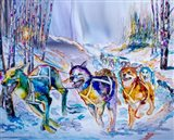 Paws in Motion Art Print