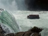 Horn Blower Cruising Below The Falls Art Print