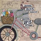 Bike Growing Old Art Print