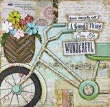 Bike Too Wonderful Art Print