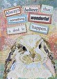 E Bunny Art Print
