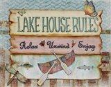 Lake House Rules Art Print