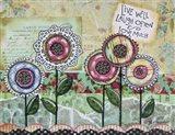 Live Well Flowers Art Print