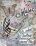 Musical Feelings Art Print
