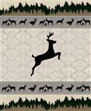 Deer Surface Pattern V1 10 Art Print