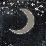 Good Night Moose2 Surface Pattern 6 Art Print