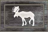 Good Night Moose2 Surface Pattern 12 Art Print