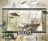 Vintage State Colorado Art Print