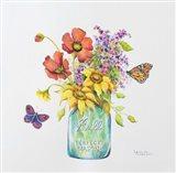 Butterfly Blossoms Art Print
