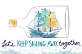 Keep Sailing Art Print