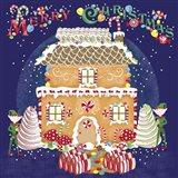 Xmas Gingerbread House Art Print
