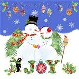 Xmas Snowman Art Print