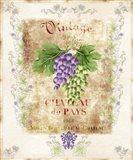 Vintage Wine Label Art Print