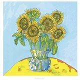 Sunflowers For Matisse Art Print