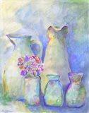 Homage To Morandi With Flowers Art Print