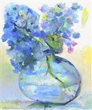 Hydrangea In Fish Bowl Art Print