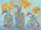 Nina's Three Bud Vases Art Print