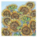 Sunflowers Upclose Art Print