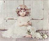 Victorian Baby on Porch Art Print