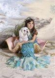 Mermaid and Merdog Art Print