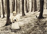 Angel in the Forest Art Print