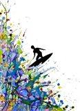 A Pollock's Point Break Art Print