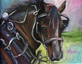 Charleston Working Horse Art Print