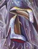 Sparkly Shoes Art Print