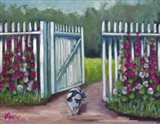 Daisy Smelling Flowers Art Print