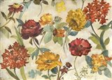 Layered Flowers Art Print