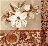 Portret Of White Lily Art Print