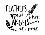 Angels Appear Art Print