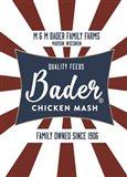 Chicken Mash Feed Sack Two Art Print
