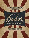 Chicken Mash Feed Sack Art Print