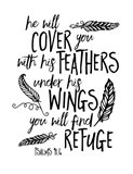 Cover You With Feathers Art Print