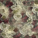 Floral Boquet Scripty Collage Art Print