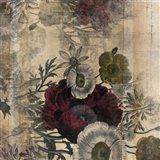 Floral Collage Burgandy Bloom Art Print