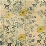 Floral Collage Layered Papers Art Print