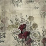 Floral Collage White Space Art Print
