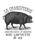 French Pig Art Print