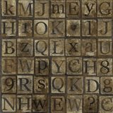 Grungy Letters Mix Art Print