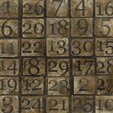Grungy Number Blocks Art Print