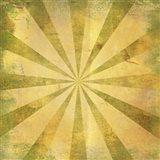 Yellow Sunburst Grunge Art Print