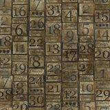 Grungy Calendar Blocks Art Print
