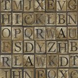 Grungy Letters Large Art Print