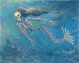 Skelly Mermaid Art Print