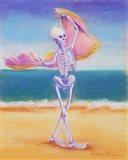 Skelly Dancer III Art Print