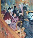 Au Moulin Skelly Art Print